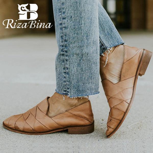 RIZABINA Frauen Büro Damen Einfache Wohnungen Schuhe Frauen Spitz Marke Einfache Party Walking Frühling Wohnungen Schuhe Größe 35-43