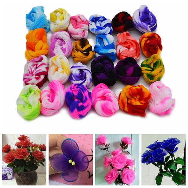 5 ADET Renkli Naylon Çorap Ronde Çiçek Malzeme Çekme Stocking Malzeme Aksesuar El Yapımı Düğün Ev DIY Çiçek El Sanatları