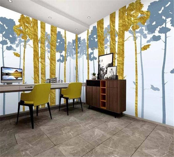 2019 New 3d Wallpaper Beautiful cloud forest custom beautiful scenery whole house background wall decoration wall paper