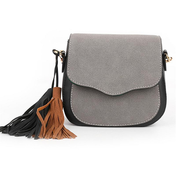 d8b238fa5 Moda Pu bandolera borla Crossbody Messenger bolsos para mujeres estudiantes  mujeres damas niñas bolsos de mano