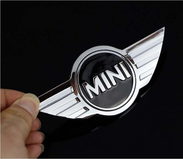 10 pcs metal 115*50mm car Front Grille Grill Bonnet Emblem Sticker For Mini Cooper CABRIO WORKS S Front head cover Rear head box
