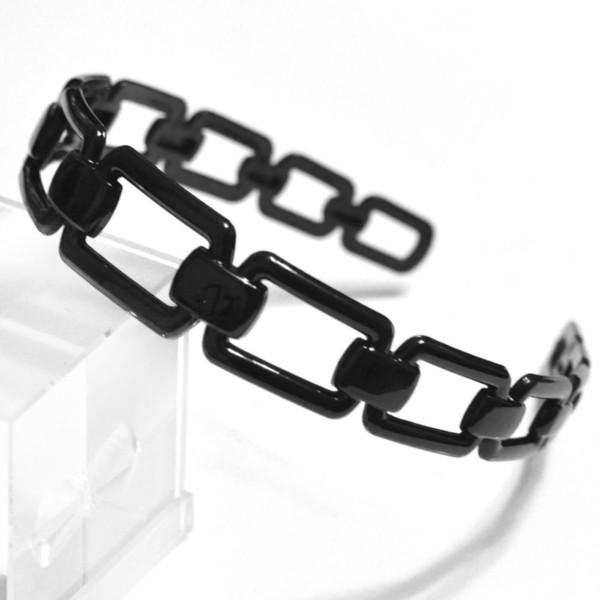 стильный дизайн черный леди пластиковый квадрат Алиса Группа Клип оголовье аксессуары для волос AU98