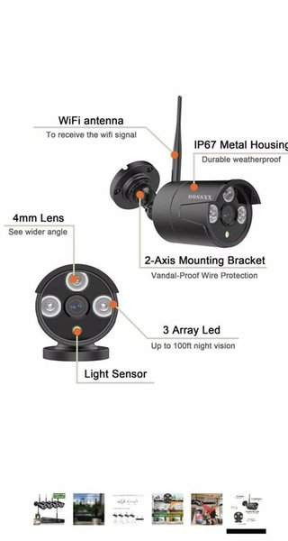 Anni 8CH Kablosuz 1080 P NVR Açık Ev WIFI Kamera CCTV Güvenlik Sistemi Video