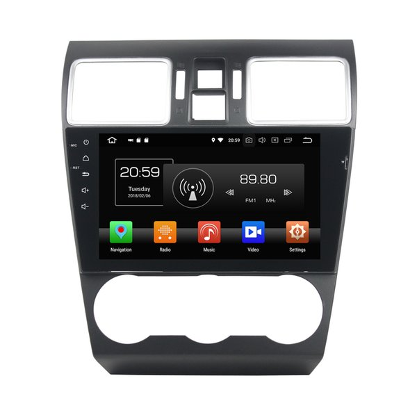 "4GB+64GB Android 8.0 Octa Core 2 din 9"" Car DVD GPS for Subaru WRX 2013 2014 2015 2016 2017 Car RDS Radio Bluetooth WIFI USB Mirror-link"