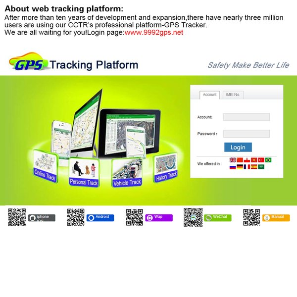 IMEI ID uso na vida ativa para CCTR GPS rastreador suportar todos os tipos GPS trackers para CCTR800 CCTR800 + CCTR800G CCTR830 CCTR803etc