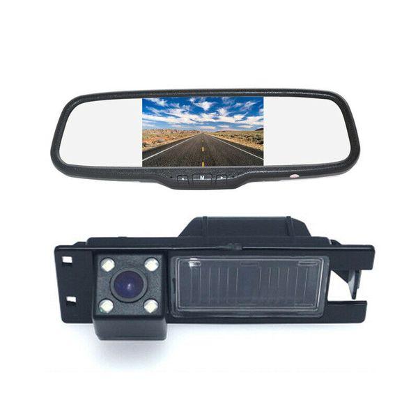 Rear View Parking Reverse Camera + Clip-on Rear View Mirror Monitor for Car Opel Astra Corsa Meriva Vectra Zafira