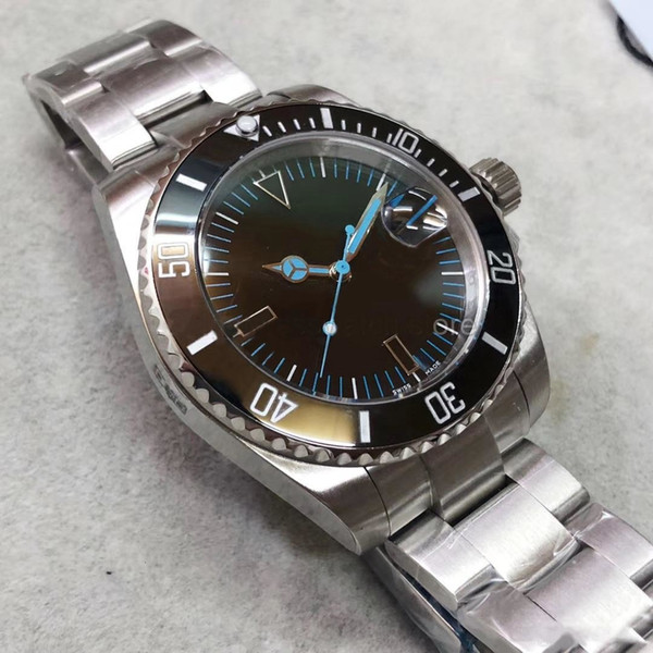 Mens Watches High Quality Automatic Movement Sapphire Glass Ceramic Ring Original Folding Buckle