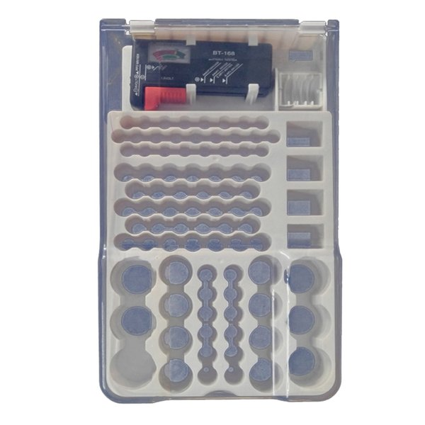 top popular 93Pcs Battery Organizer Storage Case With Removable Tester Various Sizes 2021