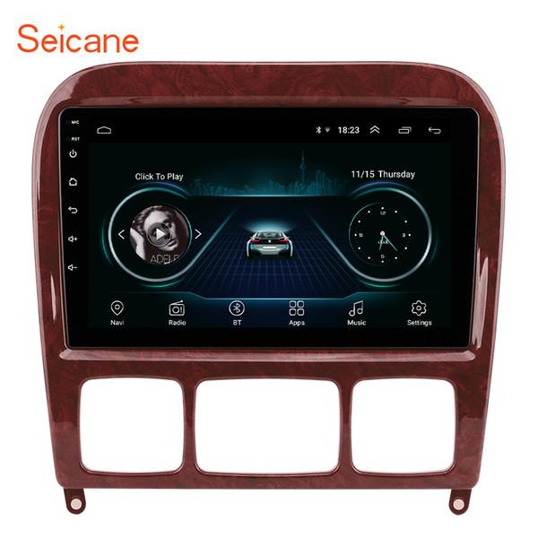 9 polegadas OEM Android 8.1 Multimedia Player para 1998-2005 Mercedes Benz Classe S com suporte para navegação GPS Bluetooth TPMS DVR OBD II
