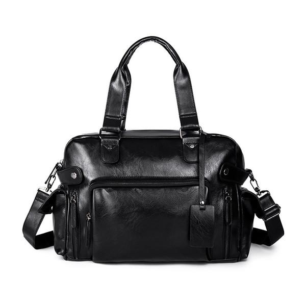 2019 Outono Nova Chegada homens de Bolsas PU Leather Men Bag Homem de negócio ocasional ombro sacos Bandoleira Grande Capacidade de viagem Messenge