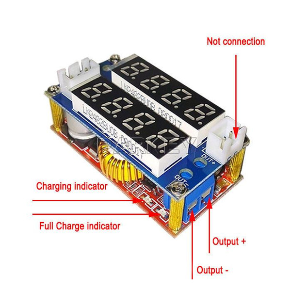 Freeshipping 20 unids DC Buck fuente de alimentación ajustable 5V-30V a 0.8V-29V 5A voltaje constante del cargador de corriente LED Volt Amp Meter Regulador