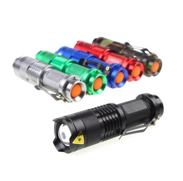 best selling Cree Q5 led flashlight torches portable mini waterproof aluminium alloy flash light adjustable zoomable focus battery flashlight lamp