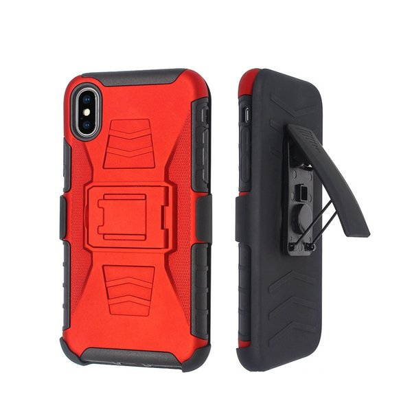 3 in 1 Combo Defender Belt Clip Armor Case for iphone 6 6s 7 8 Plus X Xs Max Xr Cover with Kickstand