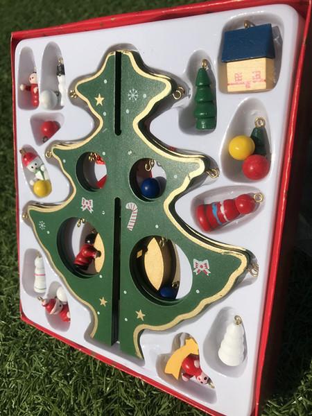 Piuttosto Natale albero giocattolo di legno Hangings Ornamento del pupazzo di neve di moda palline Alberi calda di vendita di alta qualità