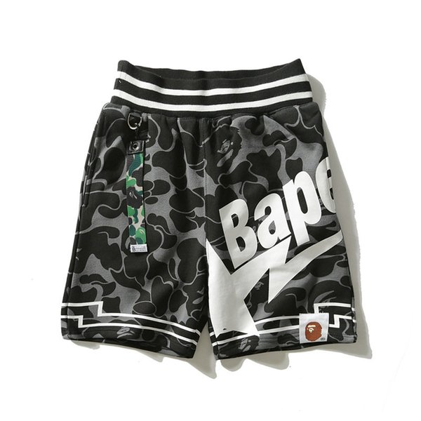 top popular Fashion Men's Outdoor Shorts Camouflage Letter Print Casual Breathable Camping And Hiking Cotton Shorts Beach Vacation Shorts 2019