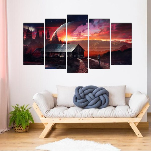 wholesale Diamond Painting 5 piece country house scenery 3D Square round Diamond Embroidery Full Kit Diamond Picture Mosaic pattern
