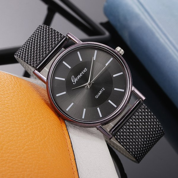 round dial quartz watch ladies high-end blue glass life waterproof outstanding apparel watch and clock