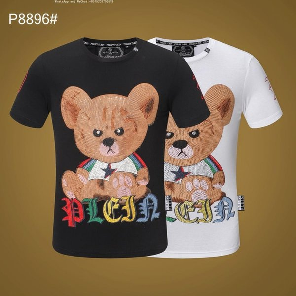 T-shirt manica corta da uomo estiva in puro cotone puro con stampa coreana estiva estiva tinta unita0305