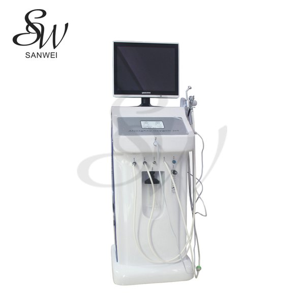 Sanwei professional facial beauty equipment water oxygen skin clean dermabrasion machine for beauty salon or home use
