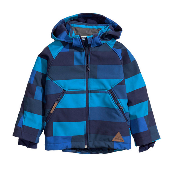 Outdoor Children's Ski Suit Charge Soft Shell Mountaineering Parent-Child Fleece Blazer Exercise Thermal Cloth Waterproof 45