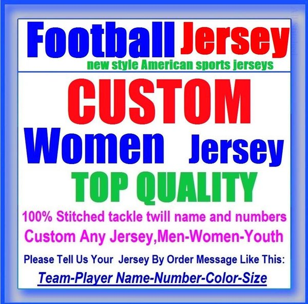 All Stitched Custom american football jerseys Carolina Chicago college authentic cheap baseball basketball mens womens youth USA 4xl blue