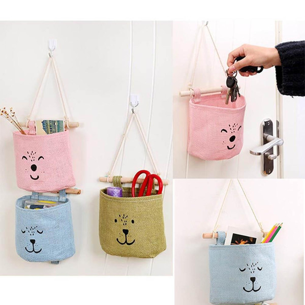 Storage Bag Kitchen Bathroom Sundries Storage Wall Door Toy Pockets Hang Pouch
