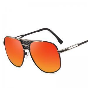 Homens Grande Oval Óculos De Sol De Metal Oversized UV400 Óculos De Sol Ao Ar Livre Óculos de Condução Espelho Sapo Designer Shades LLA259