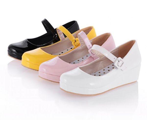 Chaussures à semelles épaisses mignonnes boucles en mousse chaussures de grande taille en boucle chaussures à semelle lisse pour femmes