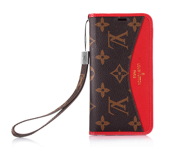 6176f27c544c5 Classic Designer Monogram Leather Wallet Case For Apple IPhone XS Max/XR  8/7/6 Plus With Card Slots Flip Bumper For Women Girls Custom Cell Phone ...