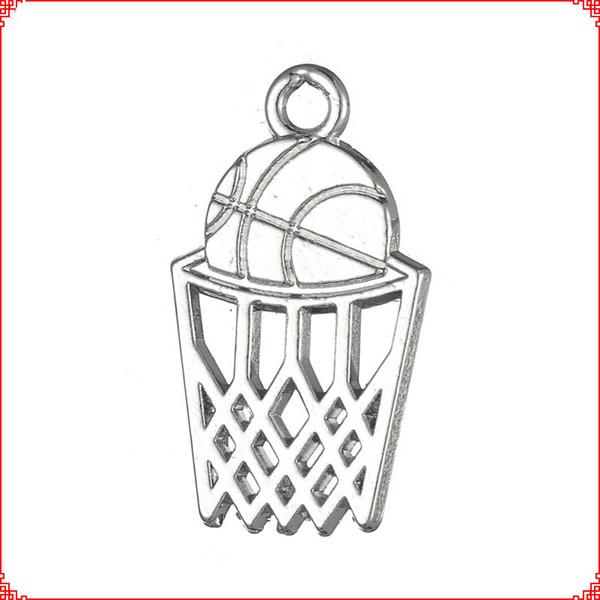 30 adet Antik vintage Tibet gümüş altın Basketbol Sepeti charms dangle alaşım kolye kolye bilezik küpe diy takı yapımı için