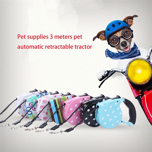 Heimtierbedarf 3 Meter Heimtier automatisch einziehbarer Einziehhund aus dem Führstrick aus dem Heimtierwerkzeug Bleigurt Hundezugseil T3I5205