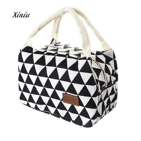 New Fashion Lunch Bag For Women Kids Men Insulated Canvas Box Tote Bag Thermal Cooler Food Lunch Bags Picnic Food Bag D19010902