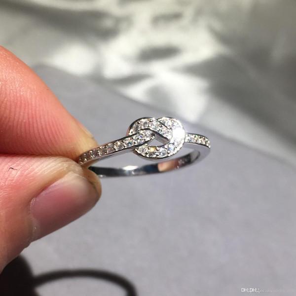 Nlm99 2018 100% 925 Silver Бесконечность Узел кольцо Простых Midi Knuckle Кольца для женщин Свадьбы Валентины Подарок BAGUE Argent 925 роковых