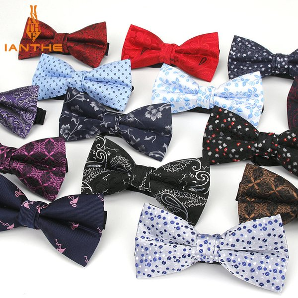 Bowtie Men Formal Dot Necktie Boy Men's Fashion Business Wedding Bow Tie Male Dress Shirt Gift