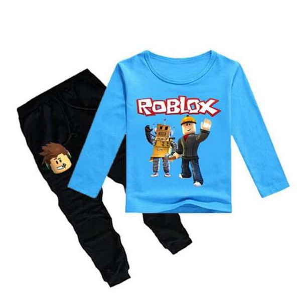 New kids pajamas children sleepwear baby Underwear set boys girls Roblox Game Sports suit cotton nightwear Tops+Pant Leisure
