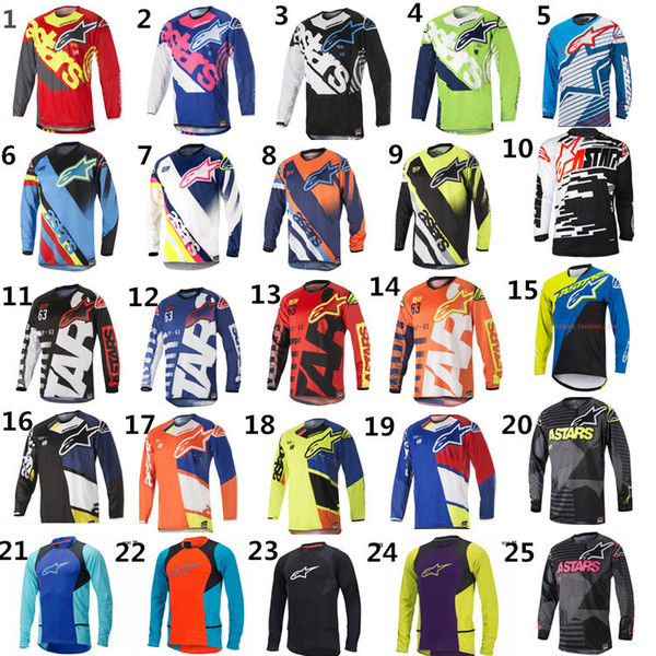 MOTO GP Bike Clothing Cycling Series Jersey Long Sleeve Top Downhill Racing Motorcycle Mountain Bike Motocross Off-road Fox TLD T-shirt