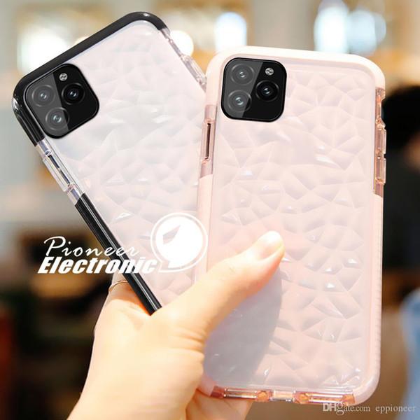 NEW Iphone 11 Pro XR XS MAX X Case de haute qualité en silicone souple anti-choc Cover Protector cristal bling Glitter caoutchouc clair TPU cas