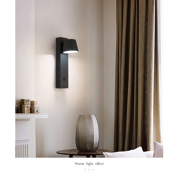 2019 JUSHENG Wall Light Fixtures Modern Led Bedroom Adjustable Vanity  Lights 3w Mirror Down Lighting Wall Mounted With Switch Black From  Zijinflo, ...