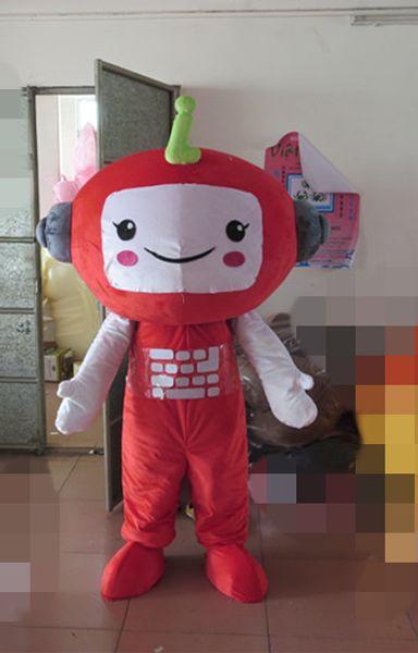Son yüksek kalite Iyi görsel üst satış güzel büyük baş kostüm yetişkin kırmızı büyük baş maskot kostüm Tatil özel giyim