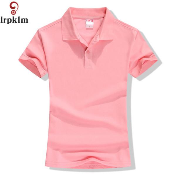 New Summer Brand Solid Polo Women Shirt Slim Short Sleeve Camisa Polo Shirt Polo Femme Women Casual Shirts Clothing Yy417 Q190426
