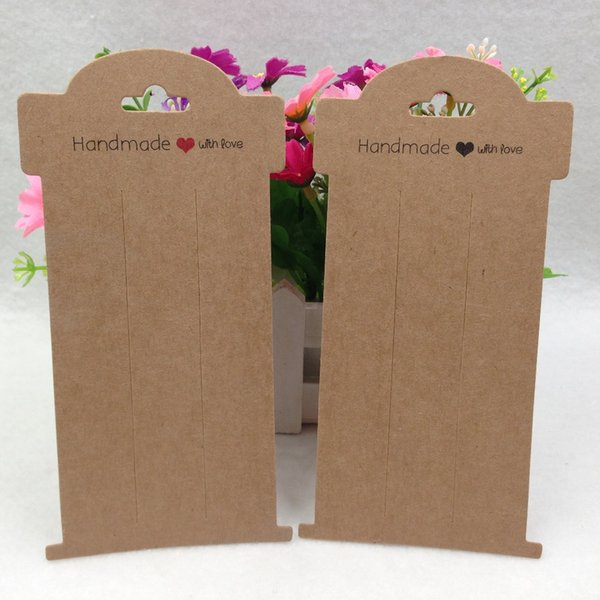 100pcs/lot 16*8cm brown/Black/ Purple Kraft Paper hair clip card Jewelry Display Cards Hair Accessory Cards free shipping