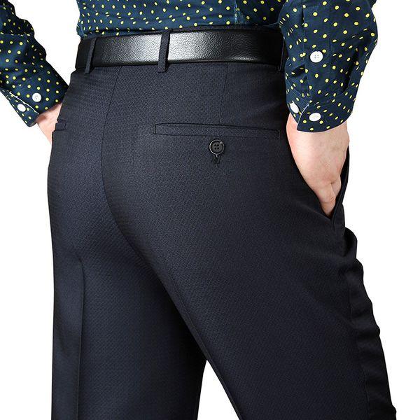 29-50 Männer Anzug Baggy Pants Frühling und Herbst männlich beiläufige klassische Thin 10 Farben Regular Fit Büro Formal Lange Hose MX190815