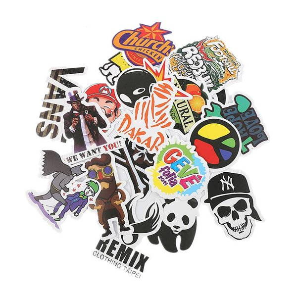 100 PCS/Set Car Stickers Car Accessories Graffiti Motorcycle Bike Skateboard Laptop Stickers JDM Sticker for Car Styling TH09