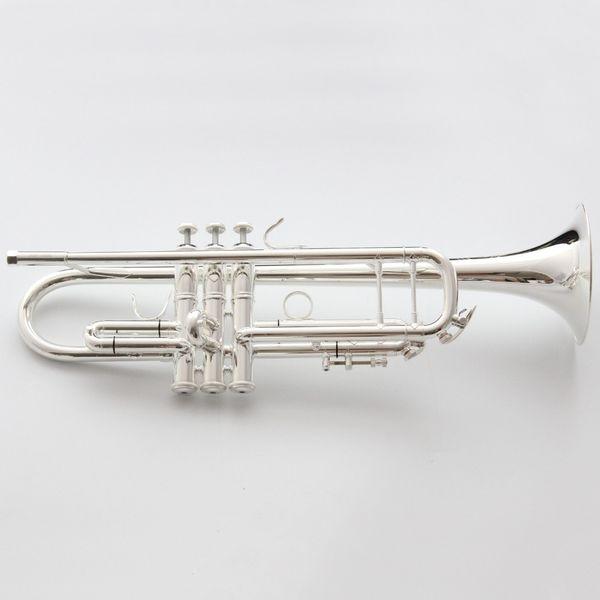 Vincent Shrotenbach Stradivarius Professional Bb Trumpets LT190S-37 Silver Plated Trumpet Mouthpiece Accessories Case