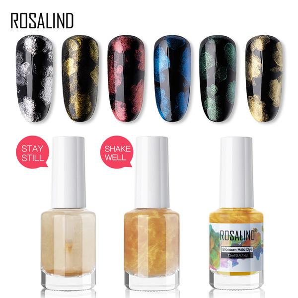 ROSALIND Nail Gel Polish Glitter Blossom Water color Varnish Hybrid Gel Base Top For Manicure Set Semi Permanent Nail Art 12ML