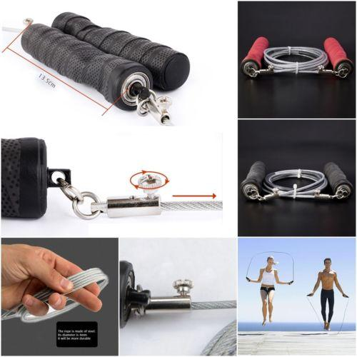 Hot Fitnesstraining Springseil Adjustable Steel Wire-Speed ​​Skipping Crossfit Übung