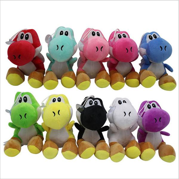 Kawaii Super Mario Bros 17CM Yoshi Plush Toys 10 Colors Yoshi Dinosaur Stuffed Animals Dolls Pendants Figure Toys DHL Free