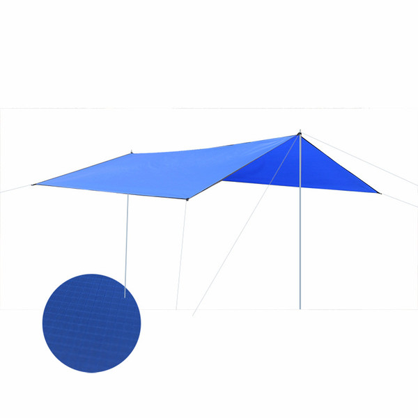 Large Capacity Outdoor Camping Awning Tent Waterproof Sunscreen Sun Shelter Iron Pole Outdoor Beach Tent for Recreation