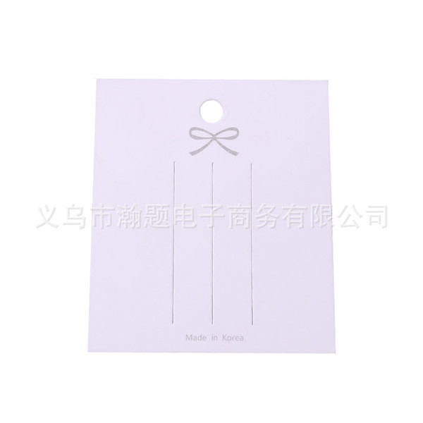 best selling 100pcs lot 6.3*7.2cm White Paper Carbord Hair Clip for Packing Hairpin Jewelry Display Cards Hair Accessory Packaging Cards