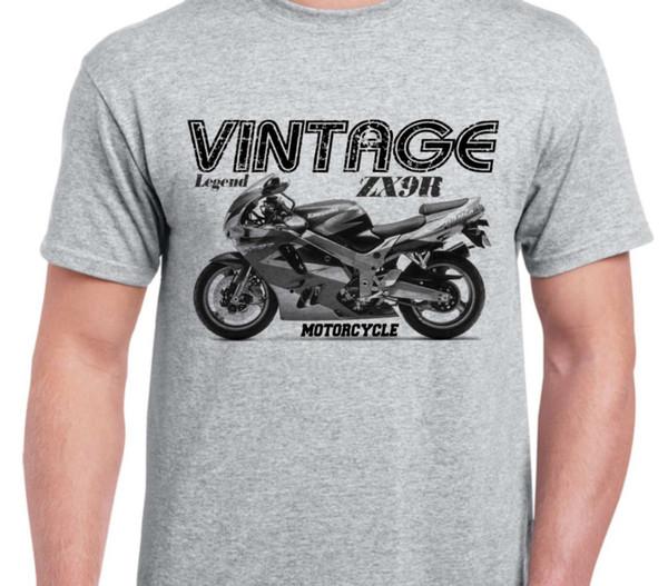 Kawasaki Ninja ZX9R 94 inspirado motocicleta do vintage camisa da bicicleta clássica tshirtFunny frete grátis Unisex Casual Tshirt top